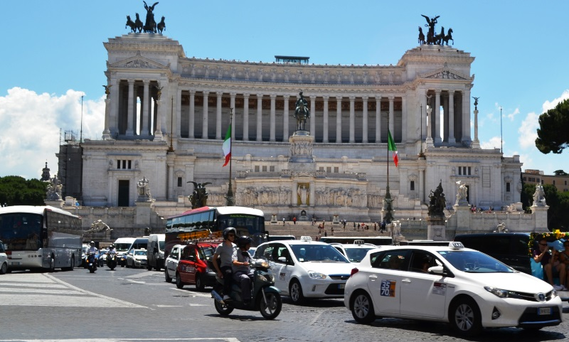 Driving in Rome, Italy