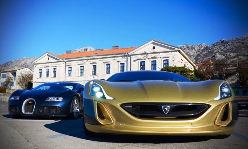 Rimac Concept_One and Bugatti Veyron 16.4