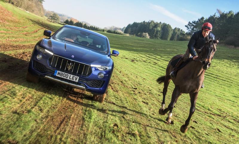 Maserati Car vs Horse race