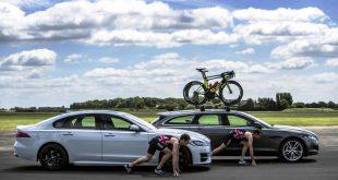 Jonny and Alistair Brownlee go head-to-head in Jaguar XF saloon and XF Sportbrake challenges