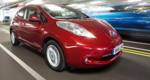 All-electrric Nissan Leaf