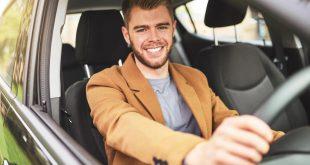 Happy motorist