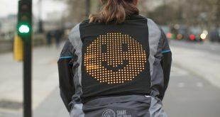Ford's emoji mood jacket to keep cyclists safe