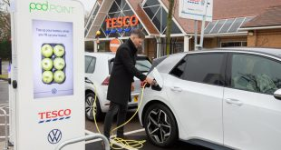 Volkswagen, Tesco and Pod Point free charging network