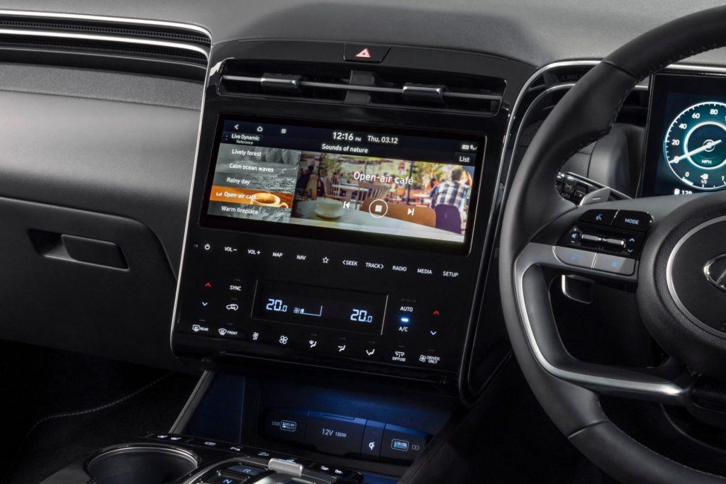 Hyundai Tucson Hybrid Sounds of Nature app
